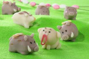 駅伝 戌から亥へ 創作和菓子1
